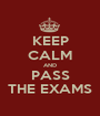 KEEP CALM AND PASS THE EXAMS - Personalised Poster A1 size