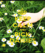 KEEP CALM AND PICK DAISIES - Personalised Poster A1 size
