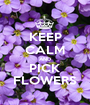 KEEP CALM AND PICK FLOWERS - Personalised Poster A1 size