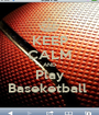KEEP CALM AND Play Baseketball  - Personalised Poster A1 size