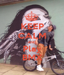 KEEP CALM AND Play BMX - Personalised Poster A1 size
