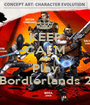 KEEP CALM AND Play Bordlerlands 2 - Personalised Poster A1 size