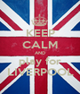 KEEP CALM AND play for LIVERPOOL - Personalised Poster A1 size