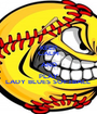 KEEP CALM AND PLAY LADY BLUES SOFTBALL  - Personalised Poster A1 size