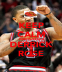KEEP CALM AND PLAY LKE DERRICK ROSE - Personalised Poster A1 size