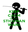 KEEP CALM AND PLAY STICKMAN WARS - Personalised Poster A1 size