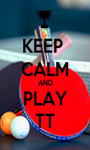 KEEP  CALM AND PLAY TT - Personalised Poster A1 size