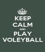 KEEP CALM AND PLAY VOLEYBALL - Personalised Poster A1 size