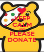 KEEP CALM AND PLEASE DONATE - Personalised Poster A1 size