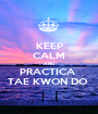 KEEP CALM AND PRACTICA  TAE KWON DO  - Personalised Poster A1 size