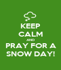 KEEP CALM AND PRAY FOR A SNOW DAY! - Personalised Poster A1 size