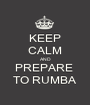 KEEP CALM AND PREPARE  TO RUMBA - Personalised Poster A1 size