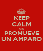 KEEP CALM AND PROMUEVE UN AMPARO - Personalised Poster A1 size