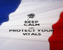 KEEP CALM AND PROTECT YOUR VITALS - Personalised Poster A1 size