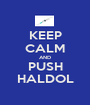 KEEP CALM AND PUSH HALDOL - Personalised Poster A1 size