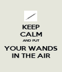 KEEP CALM AND PUT YOUR WANDS IN THE AIR - Personalised Poster A1 size