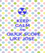 KEEP CALM AND  QIUCK SCOPE LIKE JOSE  - Personalised Poster A1 size