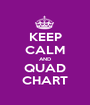 KEEP CALM AND QUAD CHART - Personalised Poster A1 size
