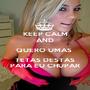 KEEP CALM AND QUERO UMAS  TETAS DESTAS PARA EU CHUPAR - Personalised Poster A1 size