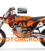 KEEP CALM AND RACE  MOTORCROSS - Personalised Poster A1 size