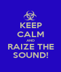 KEEP CALM AND RAIZE THE SOUND! - Personalised Poster A1 size