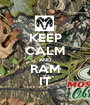 KEEP CALM AND RAM IT - Personalised Poster A1 size