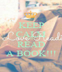 KEEP CALM AND READ A BOOK!!! - Personalised Poster A1 size