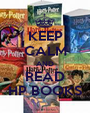KEEP CALM AND READ HP BOOKS - Personalised Poster A1 size