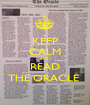 KEEP CALM AND READ THE ORACLE  - Personalised Poster A1 size