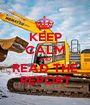 KEEP CALM AND READ THE REPORT - Personalised Poster A1 size