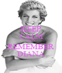 KEEP CALM AND REMEMBER DIANA - Personalised Poster A1 size