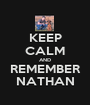 KEEP CALM AND REMEMBER NATHAN - Personalised Poster A1 size