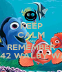 KEEP CALM AND REMEMBER P SHERMAN 42 WALBY WAY SYDNEY  - Personalised Poster A1 size
