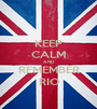 KEEP CALM AND REMEMBER RIO - Personalised Poster A1 size