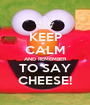 KEEP CALM AND REMEMBER TO SAY CHEESE! - Personalised Poster A1 size
