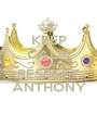 KEEP CALM AND RESPECT ANTHONY - Personalised Poster A1 size