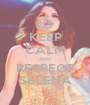 KEEP CALM AND RESPECT SELENA - Personalised Poster A1 size