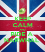 KEEP CALM AND RIDE A  NARWHAL  - Personalised Poster A1 size
