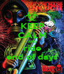 KEEP CALM AND ride end of days - Personalised Poster A1 size