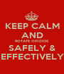 KEEP CALM AND ROTATE OPIOIDS SAFELY & EFFECTIVELY - Personalised Poster A1 size