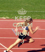 KEEP CALM AND RUN :) - Personalised Poster A1 size