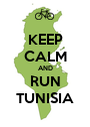 KEEP CALM AND RUN TUNISIA - Personalised Poster A1 size
