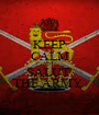KEEP CALM AND SALUT  THE ARMY  - Personalised Poster A1 size