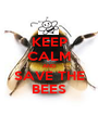 KEEP CALM AND SAVE THE BEES - Personalised Poster A1 size