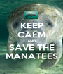 KEEP CALM AND SAVE THE MANATEES - Personalised Poster A1 size