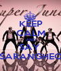 KEEP CALM AND SAY  SARANGHEO - Personalised Poster A1 size