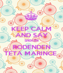 KEEP CALM AND SAY SREKEN RODENDEN TETA MARINCE  - Personalised Poster A1 size