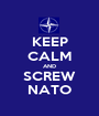 KEEP CALM AND SCREW NATO - Personalised Poster A1 size
