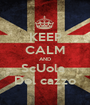 KEEP CALM AND ScUola  Del cazzo - Personalised Poster A1 size