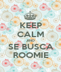 KEEP CALM AND SE BUSCA ROOMIE - Personalised Poster A1 size
